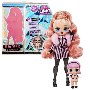 MGA Entertainment 570264E7C L.O.L. Surprise OMG Winter Wonderland Surprise- Doll 3 Big Wig and Madam