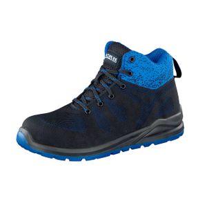WORK2DO Sportlicher Herren Sicherheitsstiefel Arbeitsschuhe S1P, Schwarz/Blau, Farbe:Schwarz/Blau, Größe:45