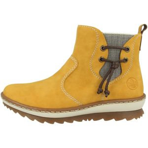 Rieker Damen Chelsea Boots Warmfutter Stiefeletten Z8691-68, Größe:38 EU, Farbe:Gelb