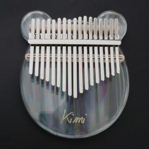 Tragbares 17-Tasten-Kalimba-Acryl-Mbira-Daumen-Klavier Mit Klarem Finger Bär klar Kalimba Daumen Klavier