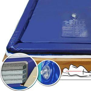 Traumreiter Wasserbettmatratze Softside Dual 100x220cm MESAMOLL 2 Wassermatratze Wasserkern-Matratze Für 200x220 cm Softside Dual Wasserbett (70% (3-4 Sekunden))