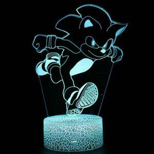 Sonic the hedgehog 3D LED Tischlampe Nachtlicht Leselampe kinder Geschenk USB DE