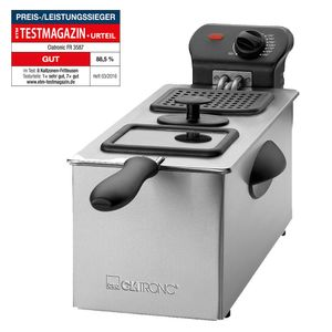 CLATRONIC Fritteuse FR 3587 inox 3L 2000 Watt Fritöse Friteuse Frittöse NEU