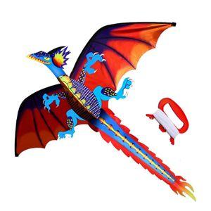 Drachen Flugdrachen 3D Dinosaurier Drachen für Kinder & Erwachsene ideales Spielzeug