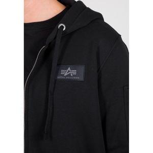 Alpha Industries Herren Zip-Hoodie Back Print schwarz M