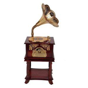 Mllaid Schmuckkästchen, Schmuckkästchen Schmuckaufbewahrungsbox Phonographenform Spieluhr Phonographenmodell für Dekoration