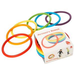 Activity Rings Spielringe Wurfringe Balanceringe Jonglierringe Kinder, 6 STÜCK