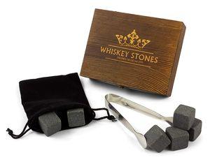 Whiskystein Geschenkset   9 Whisky Kühlsteine aus Granit   Whiskey Stones in hochwertiger Holzbox