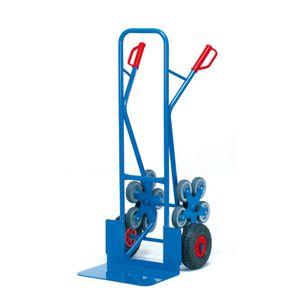 Fetra Stahlrohr-Treppenkarre, mit fünfarmigen Radsternen, Schaufelbreite 480mm