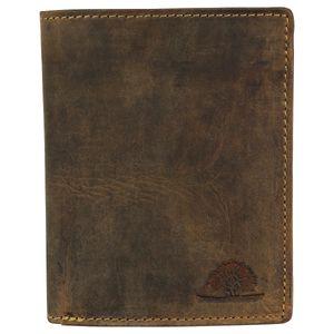 Greenburry Vintage Leder Geldbörse RFID Schutz Braun Kombibörse Geldbeutel