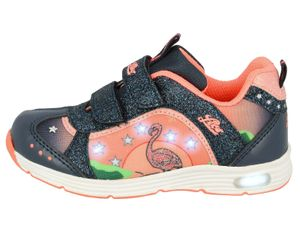 LICO Kinder Sneaker Flamingo V Blinky 300205-1235 marine/lachs, Farben:blau, Kinder Größen:29