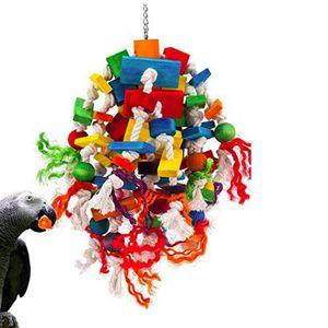 Vogel Kauen Spielzeug Papagei Käfig Beißen Spielzeug Holz Block Vogel Papagei Spielzeug Typ C Vogel-Kauspielzeug Typ C. wie beschrieben + wie beschrieben Vogelkäfig Anhänger