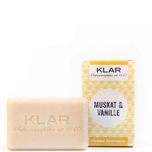Klar's festes Shampoo Haarseife Muskat/Vanille für normales Haar 100g 11044
