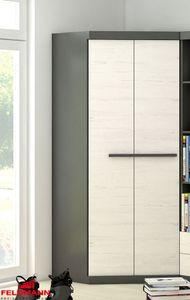 Eckkleiderschrank Kleiderschrank graphit grau andersen kiefer 93cm