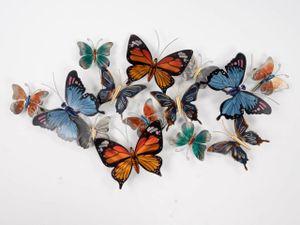 Wanddeko Relief Schmetterlinge 90x50cm aus Metall Formano