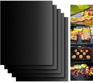 BBQ Grillmatte, Grillmatten (5er Set) zum Grillen und Backen BBQ Teflon Antihaft für bis 500°F - Perfekt für Fleisch, Fisch und Gemüse - geeignet für Jede Art von Grill & Backofen 40x33 cm