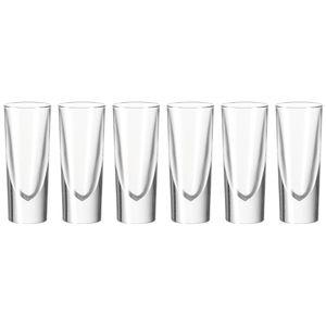 Leonardo Gilli Grappabecher 6er Set, Grappaglas, Schnapsglas, Pinnchen, Shotglas, Glas, 140 ml, 35455