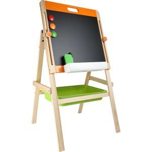"Small Foot 10436 Kindertafel Kreide & Magnet ""Kompakt"", natur/orange/grün (1 Stück)"