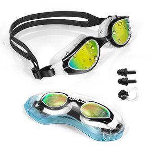 TOPLUS Schwimmbrille Schwimmmaske mit Nasenklammern, Ohrstöpsel, Weiche Silikon Antibeschlag 100% UV Schutz für Erwachsene Herren Damen Jugend und Kinder