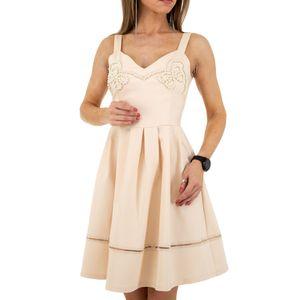 Ital-Design Damen Kleider Cocktail- & Partykleider Rosa Gr.l