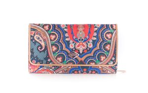 Oilily Paisley Zip Around Wallet L Royal Blue