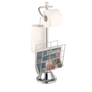 WC-Papierrollenhalter mit Lektürenablage