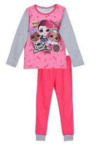 L.O.L Surprise Mädchen Schlafanzug Langarmshirt Hose, 2-teilig, fuchsia, Größe:122
