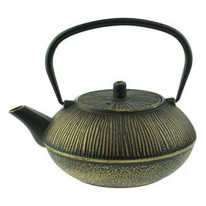 Orange85 Gusseisen Teekanne 0.8L Schwarz mit Gold
