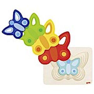 Schichtenpuzzle Schmetterling II, per St