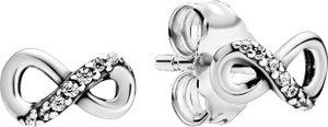 Pandora Timeless Ohrstecker 298820C01 Sparkling Infinity Silber 925 Klare Zirkonia
