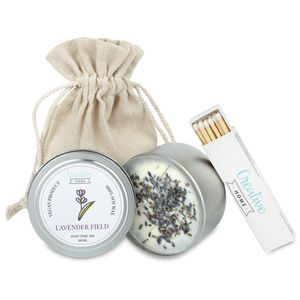 Creative Home Lavendel Soja-Wachs Duft-Kerzen   45 Stunden Brenndauer   100 % Vegan in Dose   180 ml Bio Aromatische Öle   Handgemacht   Perfekt als Entspannungs Deko oder Geschenk