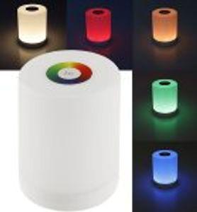 LED Tischleuchte mit Touch-Funktion Li-Akku, Warmweiß + RGB