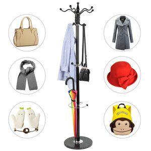 Garderobenständer  Kleiderständer Standgarderobe Garderobe Kleider Ständer Metall Marmorfuß 173.5cm