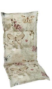 GO-DE Textil, Sessel-Auflage  mittel, Schmetterling beige, 19228-25