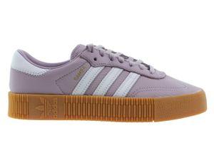 Adidas Sambarose Damen Sneaker Lila Leder, Größe:41 1/3