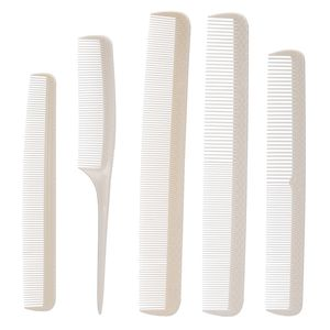 5 Haarkamm Set Haarschneidekamm Friseur Styling Kaemme Spiessente Kamm,White,