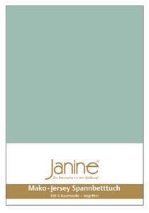 Janine Mako Jersey Spannbetttuch Bettlaken 140-160x200 cm5007 36 rauchgrün