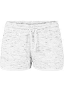 Urban Classics Damen Shorts Ladies Space Dye Hotpants White/Black/White-S