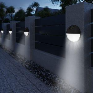 6x LED Solarleuchte Gartenleuchte Wandleuchte Zaunleuchte Gartenbeleuchtung