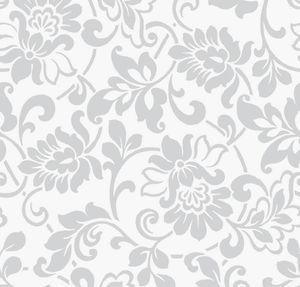 Klebefolie Heritage Silber - Möbelfolie Silbergrau -  45 cm x 200 cm Barock