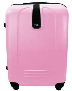 GroßhandelPL Koffer Reisekoffer Reise Trolleys mittel Koffer XL 910 Farbe Pink  66 x 45 x 25 cm