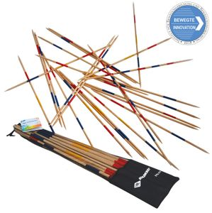 Schildköt Mikado Set, die Riesenversion des Spiele-Klassikers, 25 Stäbe, 90 cm Länge, aus em Holz