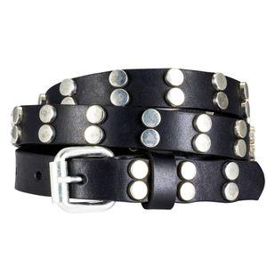 Ledergürtel Damen / Gürtel Damen The Art of Belt, NietenGürtel schwarz, Größe / Size:110, Farbe / Color:schwarz
