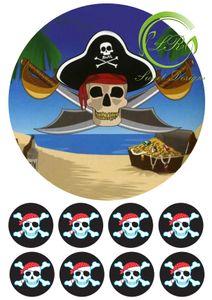 """Piraten"" №2 Tortenaufleger,Geburtstag,Tortendeko"