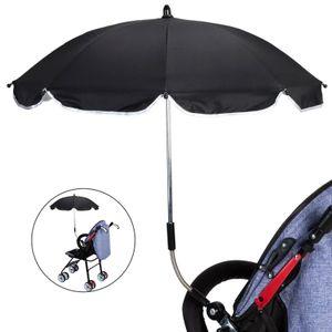 Kinderwagen Sonnensegel UV-Schutzschirm mit Universalständer, schwarz