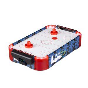 relaxdays Airhockey Tischspiel LED