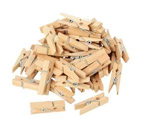 VBS Mini-Holzklammern, 50 Stück, L 3,5 cm