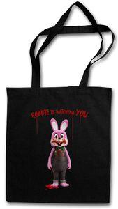 Robbie The Evil Rabbit Einkaufstasche Stofftasche Jutebeutel Tragetasche