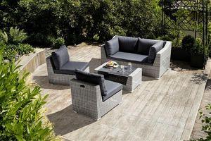 KETTLER Loungemöbel Set Costa 4tlg 0311236-5500 Polyrattan weiß