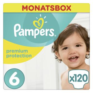 Pampers Premium Protection Gr.6 Extra Large 13-18kg Monatsbox, 120 Stück - Größe 6 - 120 Stück